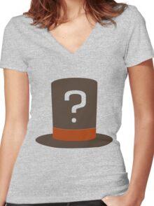 Professor Layton Nygma Women's Fitted V-Neck T-Shirt
