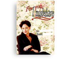 Irene Adler Valentine's Day Card - Misbehave Floral Canvas Print