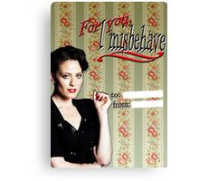 Irene Adler Valentine's Day Card - Misbehave II Canvas Print