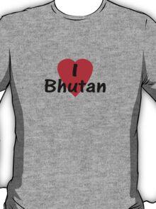 I Love Bhutan T-Shirt Top T-Shirt
