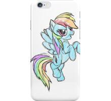 Rainbow dash stencil art iPhone Case/Skin