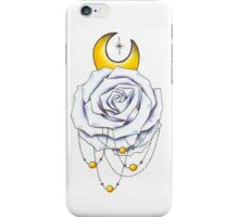 White Rose Dreamcatcher Moon Star iPhone Case/Skin
