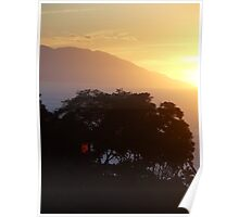 sunset in yellow I - puesta del sol Poster