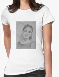 Nostalgic portrait Womens Fitted T-Shirt