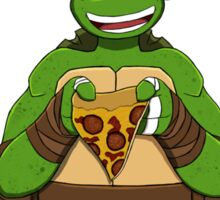 TMNT Mikey V-day Sticker
