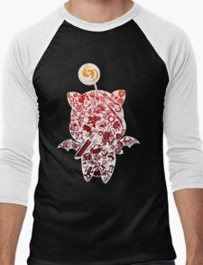 Final Fantasy Moogle-verse (red) Men's Baseball ¾ T-Shirt