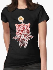 Final Fantasy Moogle-verse (red) Womens Fitted T-Shirt
