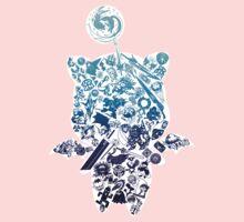 Final Fantasy Moogle-verse (blue) Kids Tee