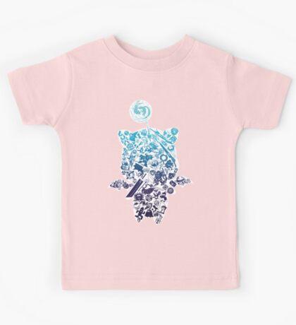 Moogle-verse (blue) Kids Tee