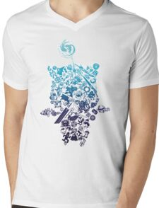 Moogle-verse (blue) Mens V-Neck T-Shirt