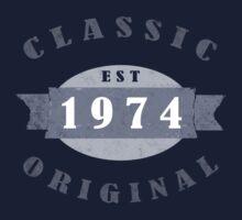 Est. 1974 Classic Original T-Shirt by thepixelgarden
