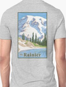 Vintage Mount Rainier Travel Poster Unisex T-Shirt