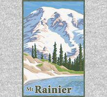 Vintage Mount Rainier Travel Poster T-Shirt