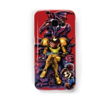 Metroid - The Huntress Throne (with Mario) Samsung Galaxy Case/Skin