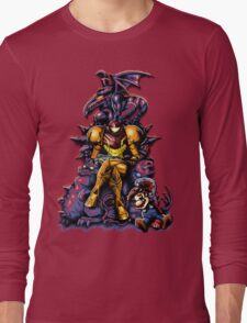 Metroid - The Huntress Throne (with Mario) Long Sleeve T-Shirt