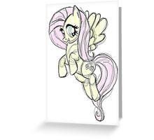 Fluttershy stencil art Greeting Card