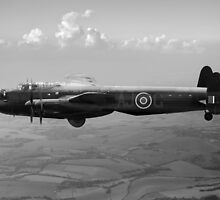 Dambusters Lancaster AJ-G carrying Upkeep black and white version by Gary Eason + Flight Artworks