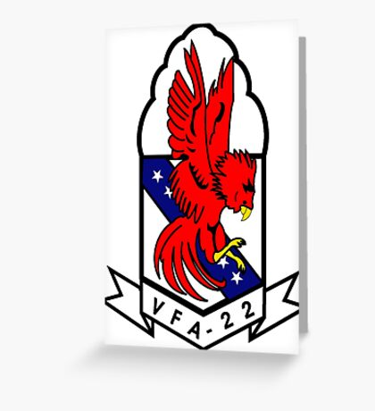 VFA-22 Fighting Redcocks Greeting Card