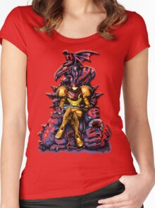 Metroid - The Huntress' Throne Women's Fitted Scoop T-Shirt