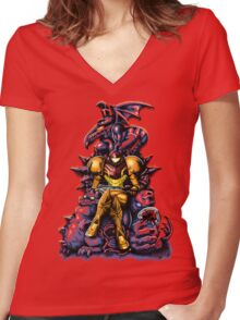 Metroid - The Huntress' Throne Women's Fitted V-Neck T-Shirt