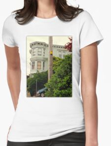Room With A View...Cheep! Womens Fitted T-Shirt