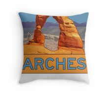 Arches National Park - Delicate Arch - Moab Utah Throw Pillow