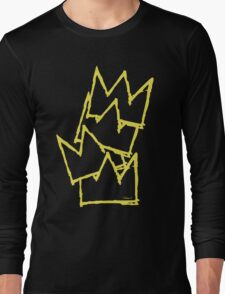 Stacked Crowns Yellow  Long Sleeve T-Shirt