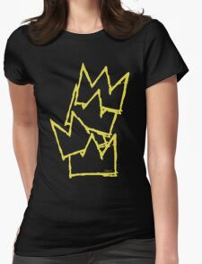 Stacked Crowns Yellow  Womens Fitted T-Shirt