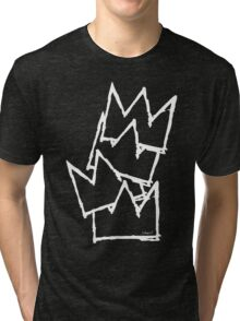 Stacked Crowns White Lines Tri-blend T-Shirt
