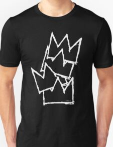 Stacked Crowns White Lines Unisex T-Shirt