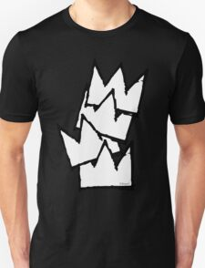 Stacked Crowns White  T-Shirt