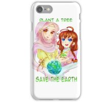 Plant a tree, save the earth iPhone Case/Skin