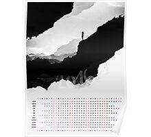 2016 Calendar White Isolation  Poster