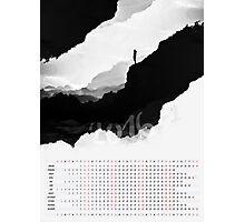 2016 Calendar White Isolation  Photographic Print