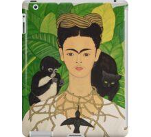 Frida with Monkey and Cat i-pad case iPad Case/Skin