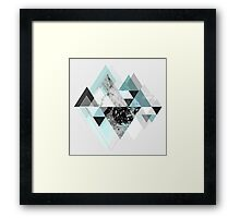 Graphic 110 (Turquoise Version) Framed Print