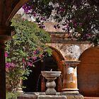 Guatemala. Antigua. Convent of Capuchinas. Fountain. by vadim19