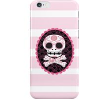 Pink Sugar Skull Vector iPhone Case/Skin