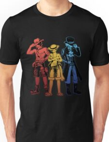 One Piece Brothers - red/yellow/blue Unisex T-Shirt