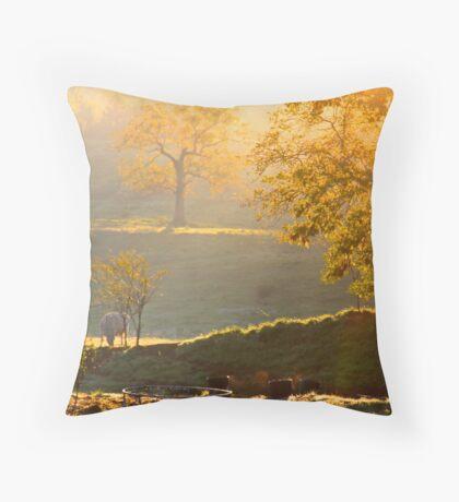 Golden Trees Throw Pillow