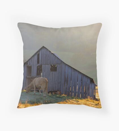 Evening At The Barn Throw Pillow