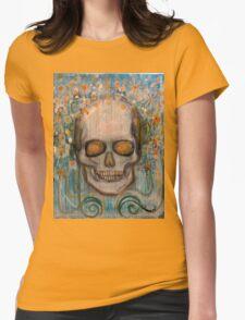 Golden Eye Scull Womens Fitted T-Shirt