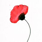 One Red Poppy by Ron C. Moss