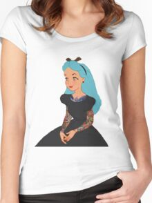 Goth Punk Alice Women's Fitted Scoop T-Shirt