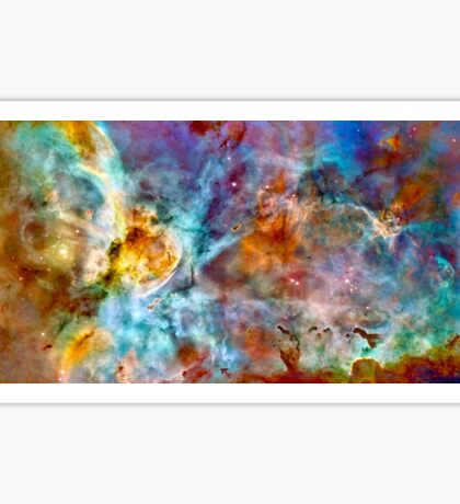Carina Nebula Hubble Space Photograph Sticker