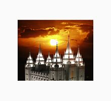 Salt Lake Temple Sunset Spires 20x24 Unisex T-Shirt