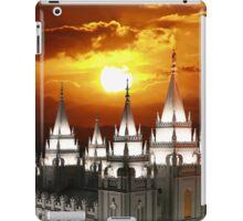 Salt Lake Temple Sunset Spires 20x24 iPad Case/Skin