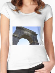 Arch in Washington Square Park Women's Fitted Scoop T-Shirt