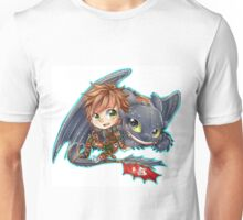 Httyd 2 - Chibi Hiccup and Toothless Unisex T-Shirt