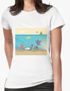 What's going on at the sea? Kids collection Womens Fitted T-Shirt
